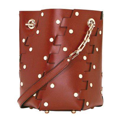 Proenza Schouler酒紅色水桶包款,49,500元。 圖/Proen...