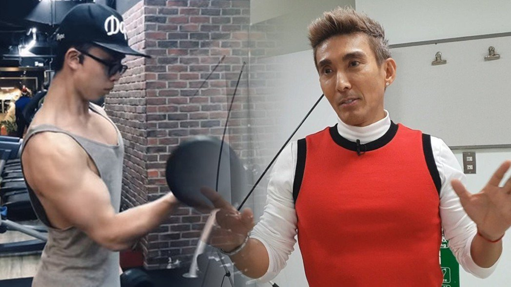 潘若迪認為與其追求大肌肉不如重視線條比例。記者李姿瑩/攝影、摘自YouTube