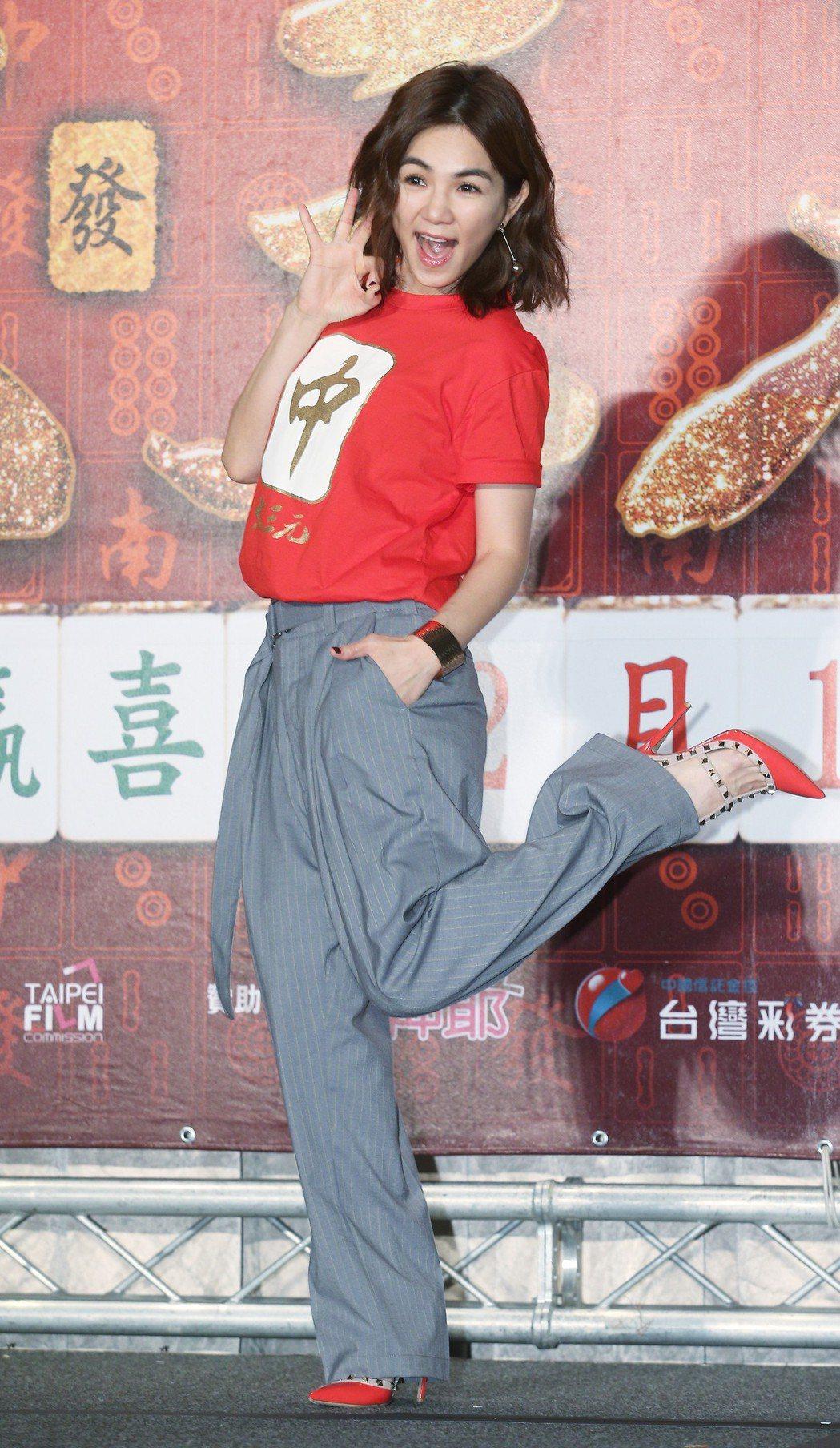 Ella演出賀歲片「大三元」。記者陳正興/攝影