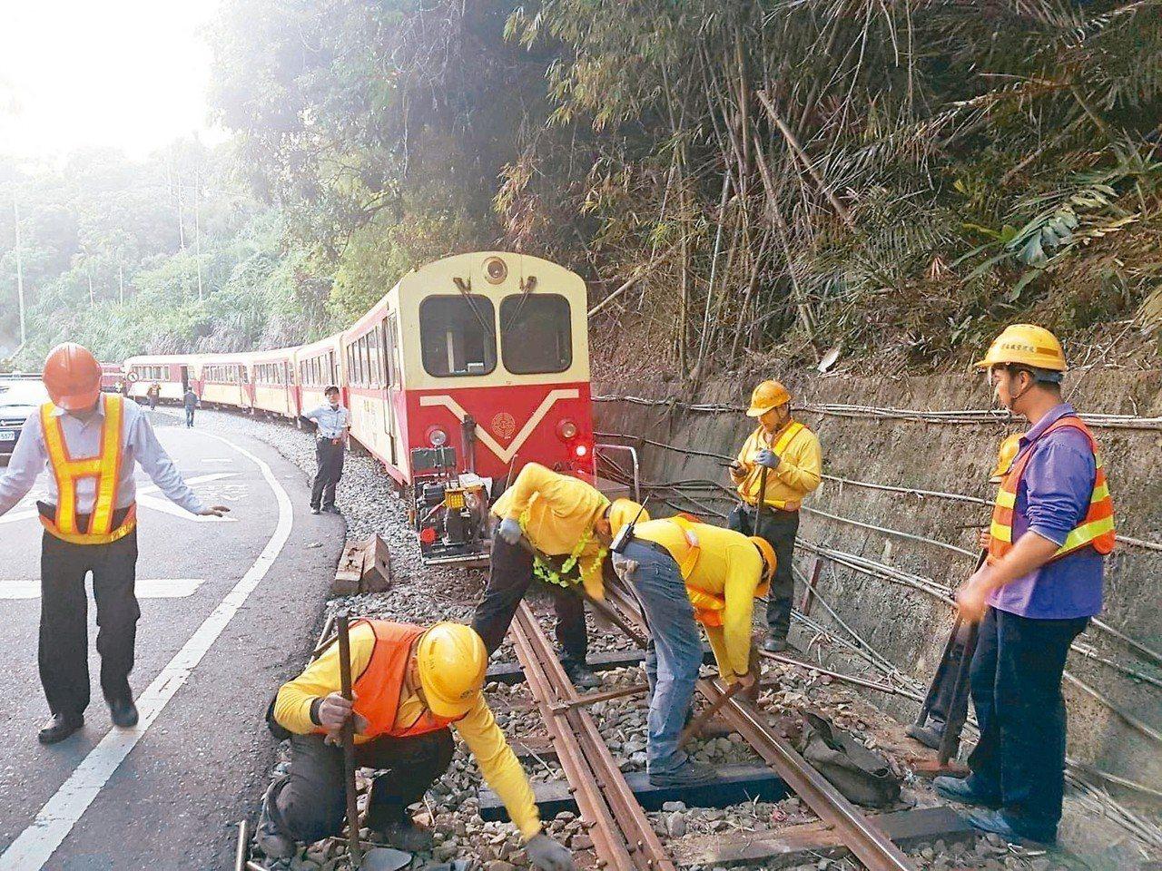 阿里山森林鐵路至今無法全線通車。 圖/台鐵局提供