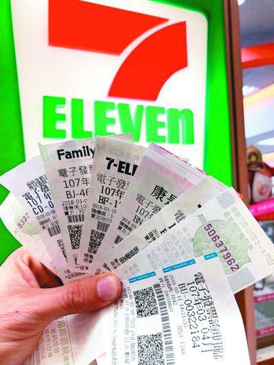 明年起,統一發票千元以下獎項可直接在便利商店、超市領取。 本報資料照片/記者陳易...