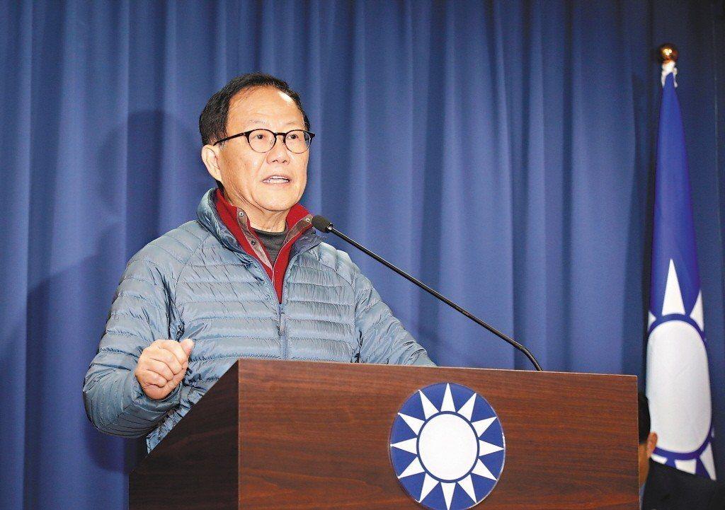 中國國民黨台北市長候選人丁守中。聯合報系資料照/記者鄭超文攝影