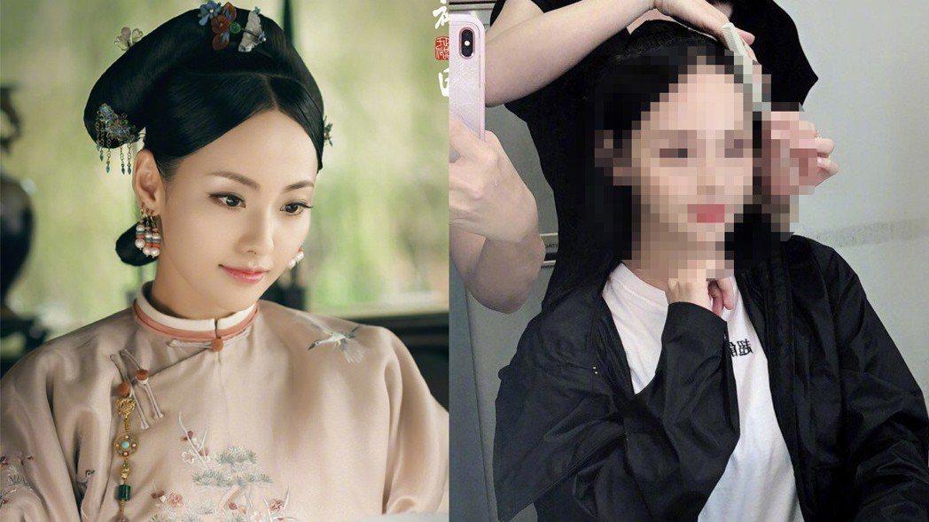 張嘉倪日前就曾曬出自己修過的「蛇精臉」。圖/擷自weibo。