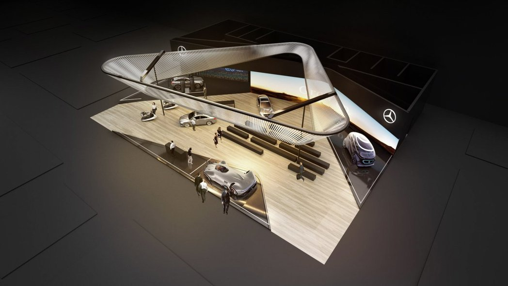 Mercedes-Benz將於明年1月8日於拉斯維加斯舉辦的CES消費性電子展中...