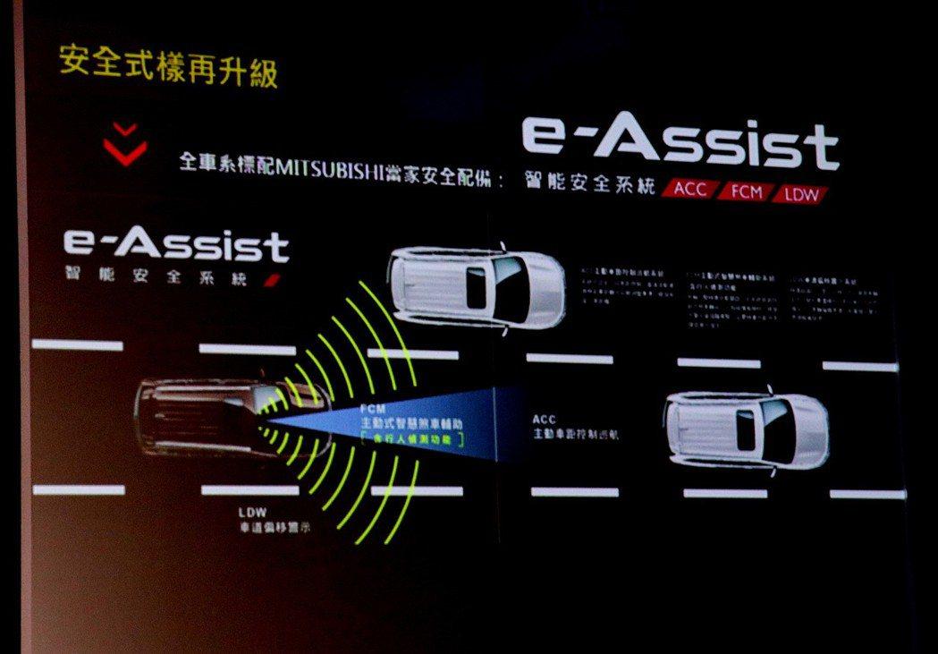 新年式車型全車系統一搭載e-Assist智能安全系統。 記者陳威任/攝影