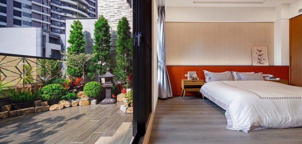 二樓主臥御寢特別設計景觀大露台。圖片圖供/磐京建設