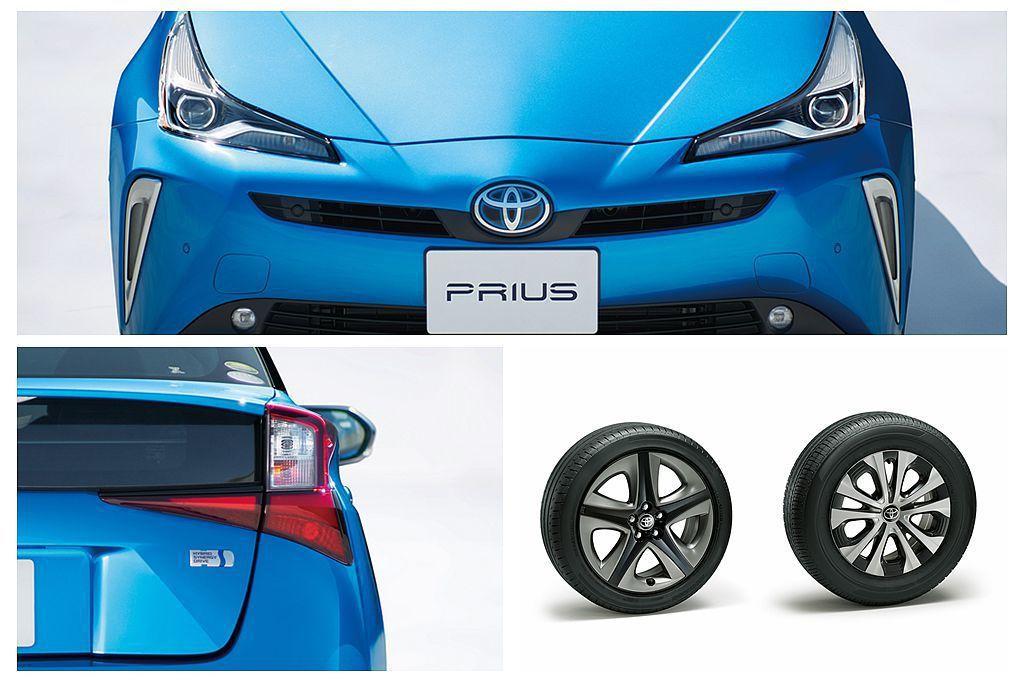 Toyota Prius日規車型也相同針對頭燈/尾燈、前保桿等處進行修改,輪框則...