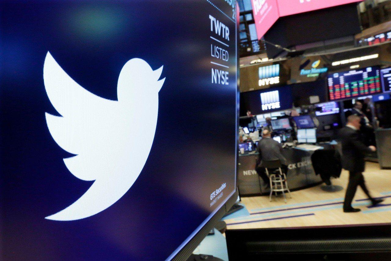 推特周一傳出資安疑慮,股價重挫7%。 美聯社