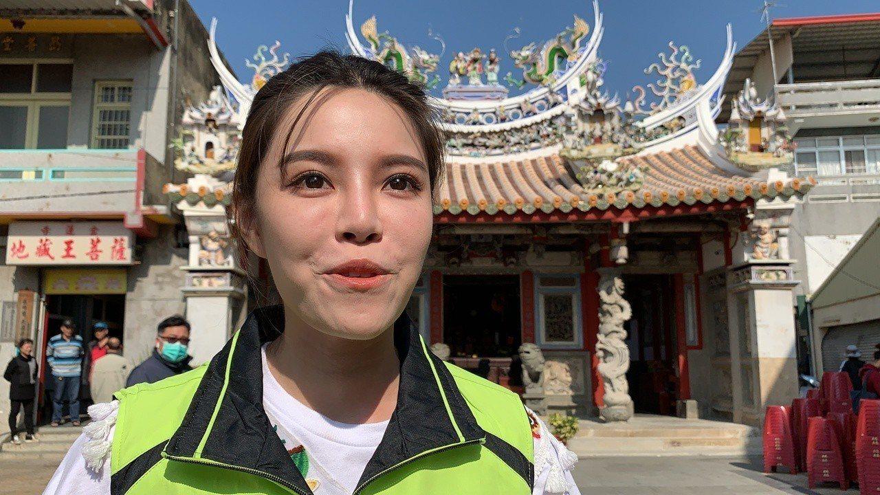 28歲民進黨全國黨代表陳筱諭今天舉行參選台南市立委補選成立大會。記者吳淑玲/攝影