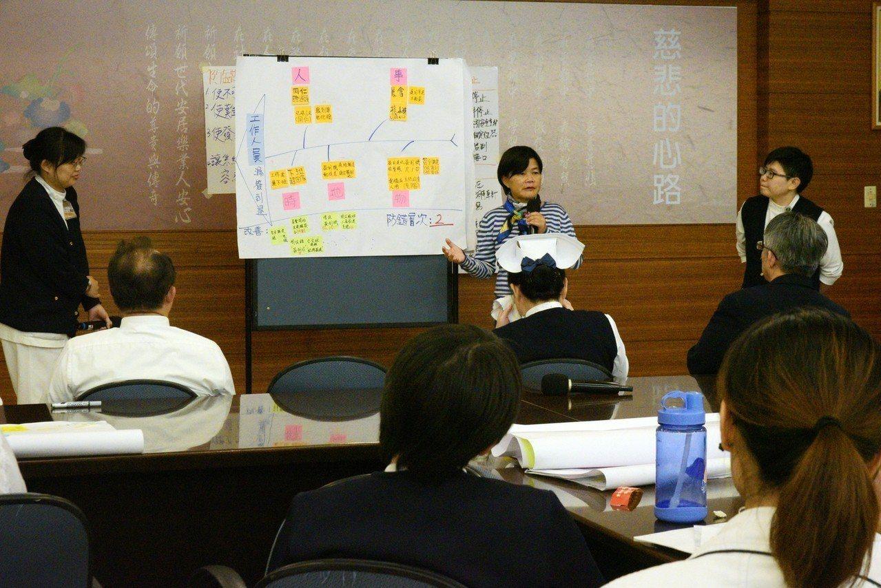 大林慈濟醫院舉辦兩天的「精實醫療 防錯技術工作坊」圖/大林慈院提供