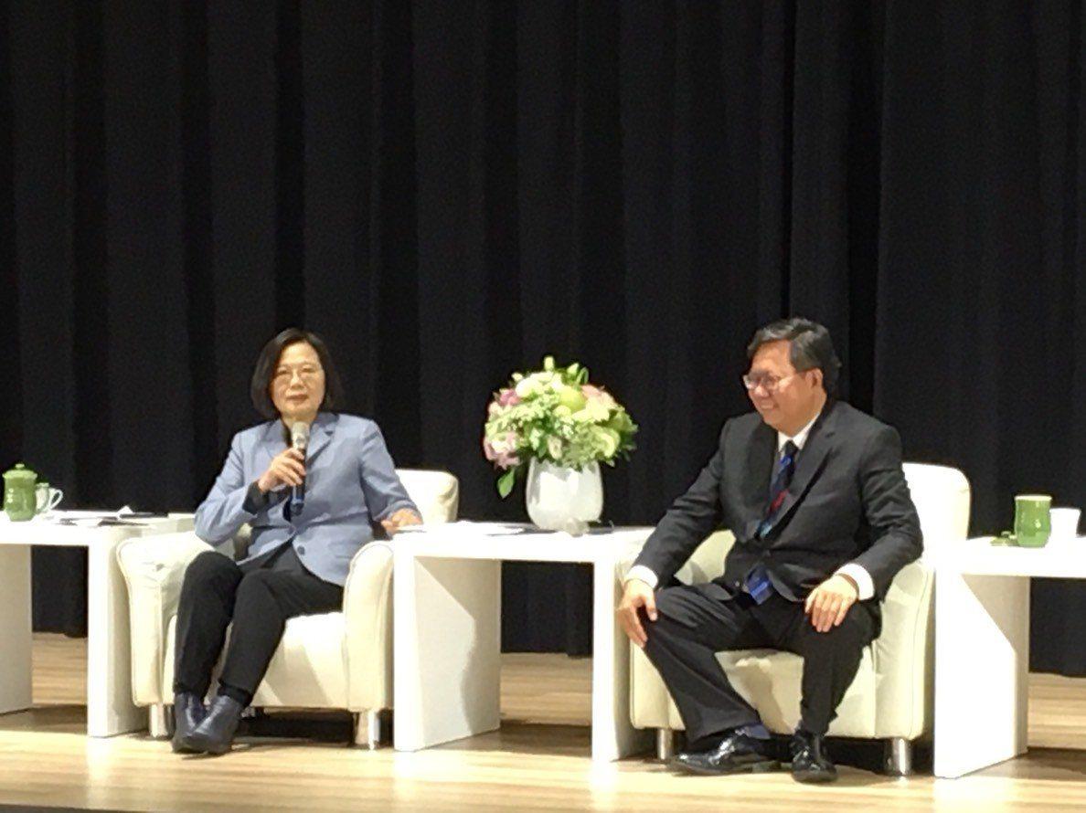 蔡英文和鄭文燦會談。記者張裕珍/攝影