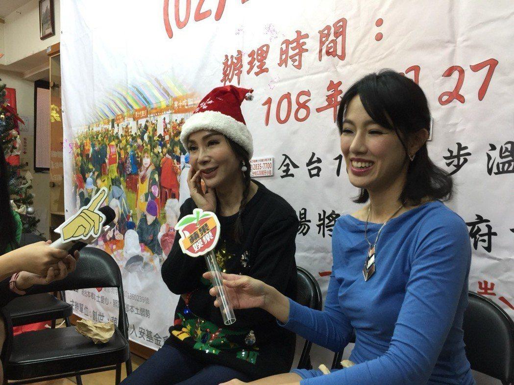 陳美鳳(左)、黃瑄出席公益活動。記者陳慧貞/攝影