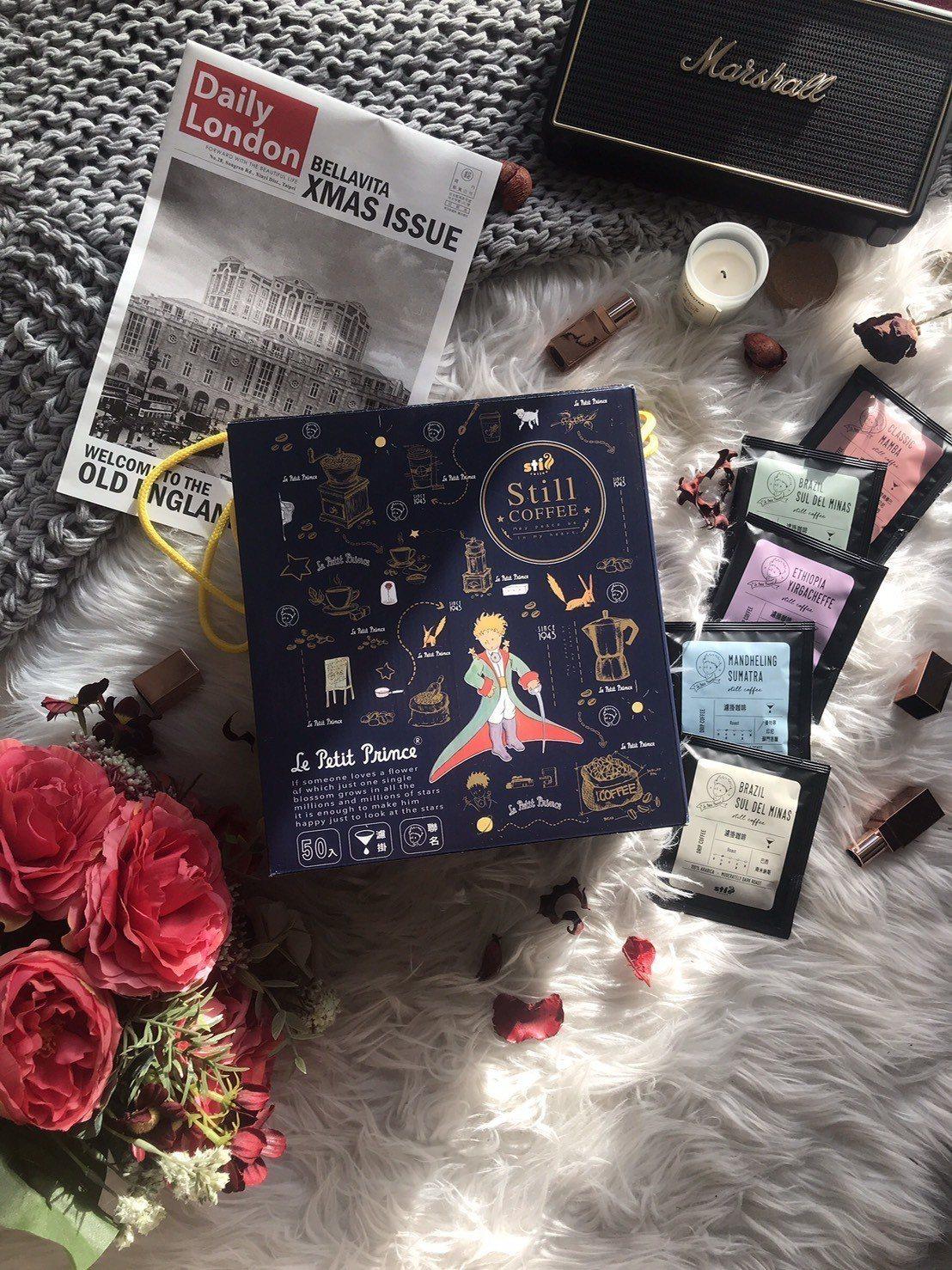 SOGO忠孝館耶誕市集,雅蒙蒂小王子濾掛咖啡禮盒售價990元。圖/SOGO提供