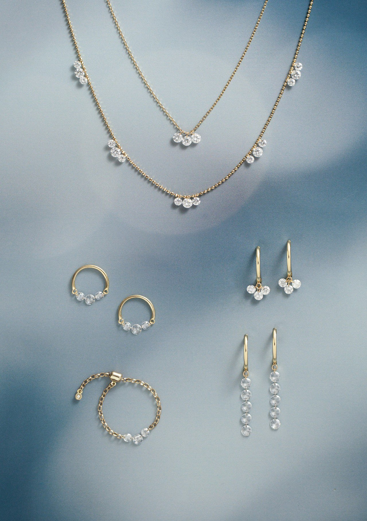 AbHerï激光穿孔鑽石系列,輕盈搭配性高。圖/JOYCOLORi提供