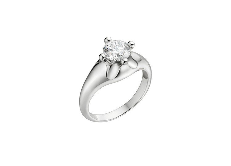 BVLGARI Bridal 系列 Corona 婚戒鑲嵌1.5克拉主鑽,價格店...