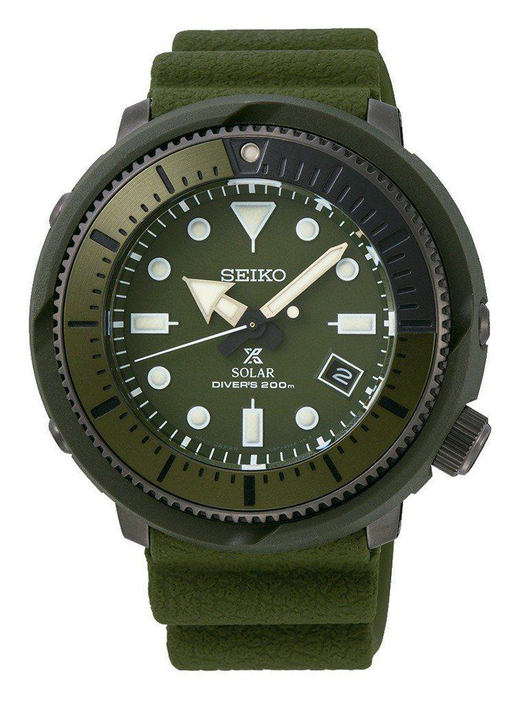 SEIKO Prospex Street系列迷彩綠SNE535P1腕表,14,5...