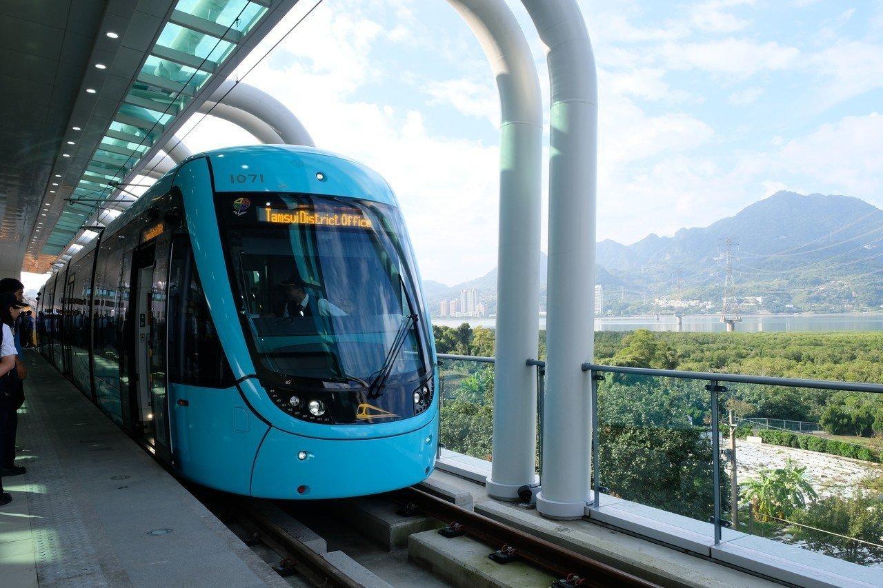 淡海輕軌是北台灣第一條輕軌路線,台灣首例執行國車國造。記者張曼蘋/攝影