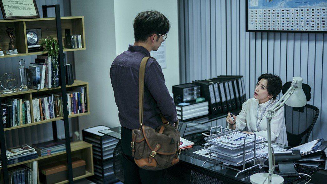 賈靜雯(右)劇中經常對飾演老公的溫昇豪飆罵。圖/公視提供