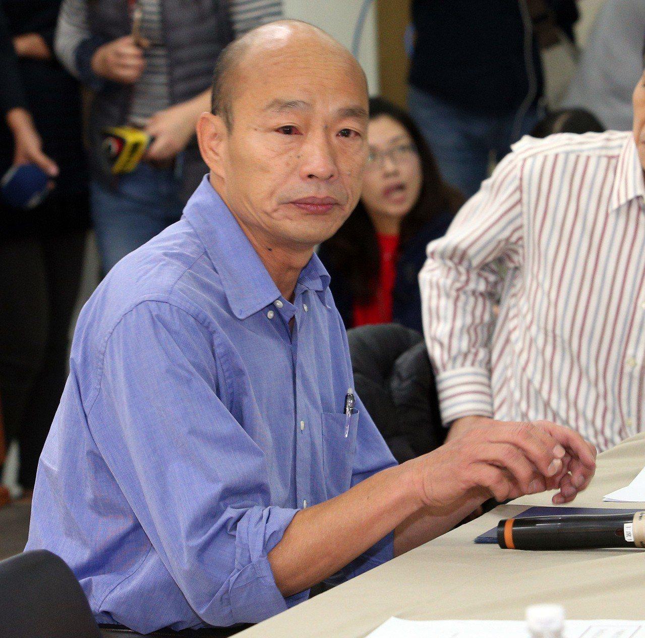高雄市長當選人韓國瑜今天公布最新小內閣名單。記者劉學聖/攝影