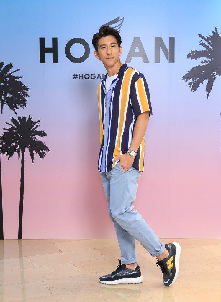 時尚品牌HOGAN選在擁有嶄新店裝的101店發表2019春夏系列,請來男星修杰楷...