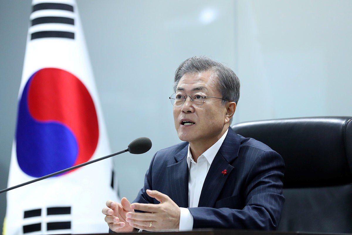 南韓總統文在寅。 路透社