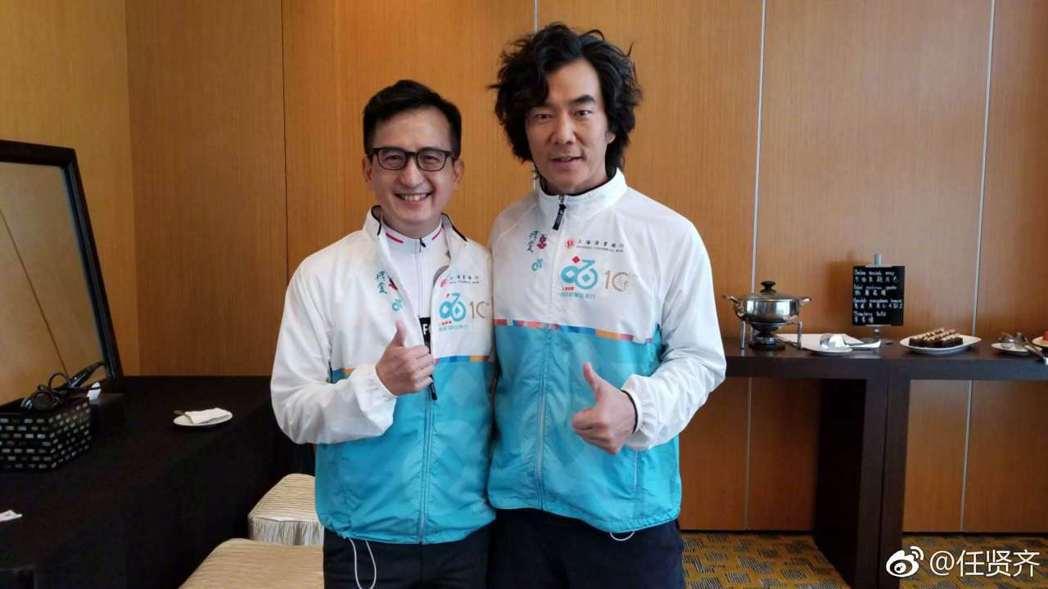 任賢齊昨(18日)在香港出席活動,透露如今已瘦了17公斤。圖/擷自weibo。