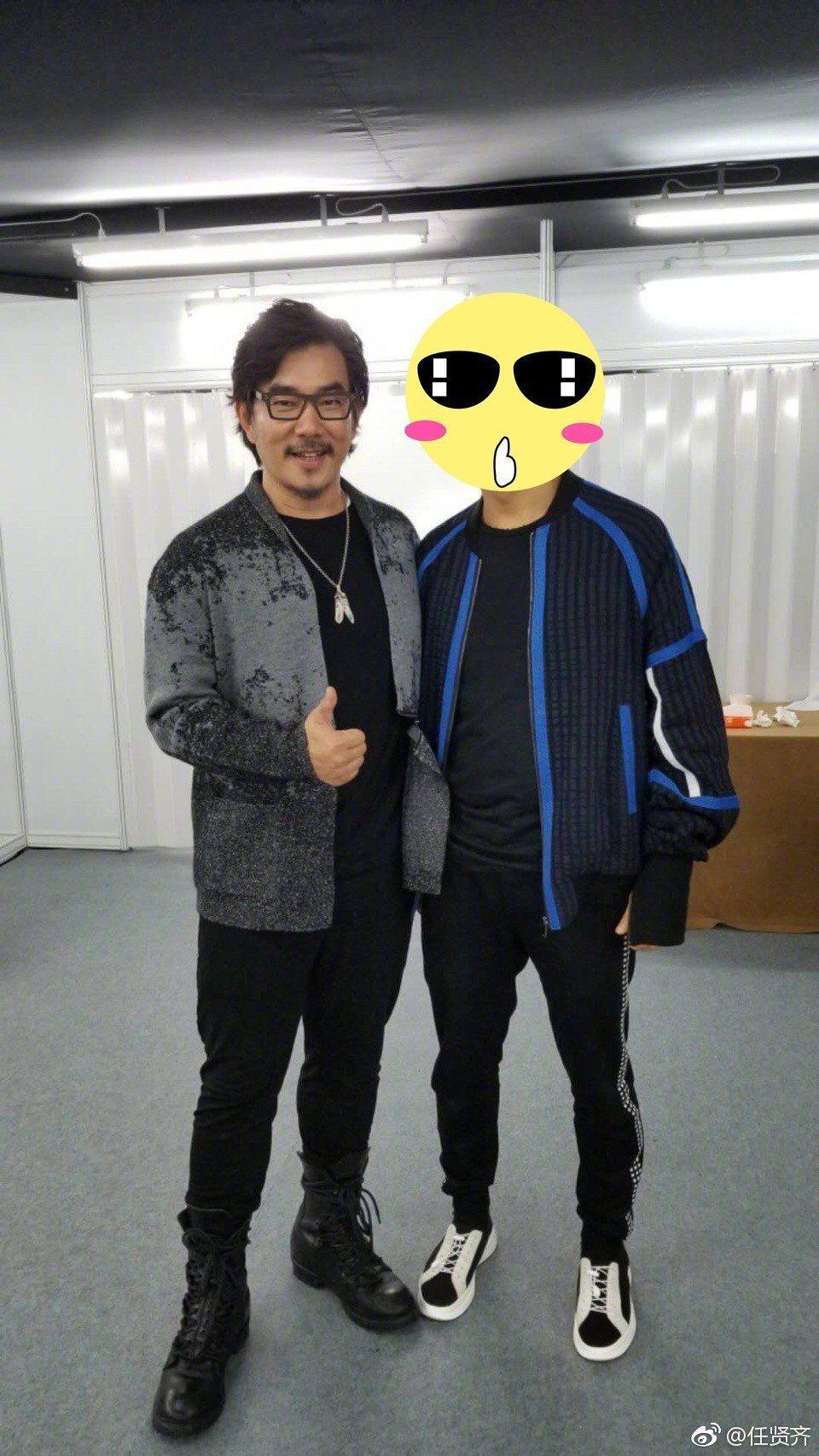 任賢齊為戲增重到100公斤。圖/擷自weibo。