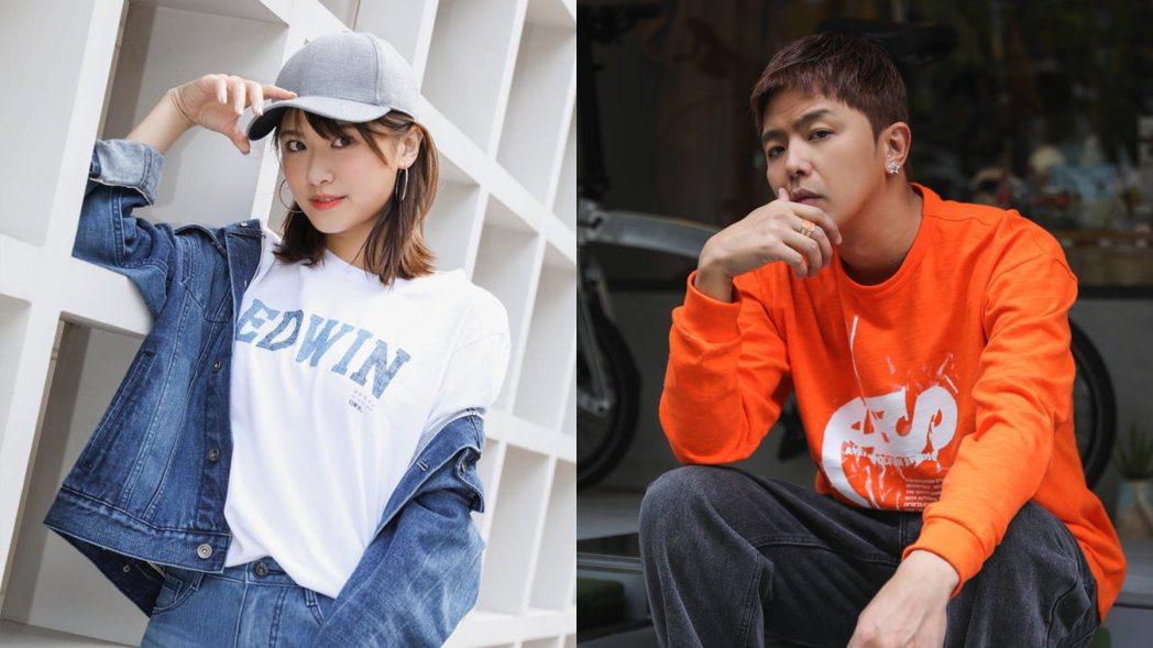 小鬼(右)與妞妞(左) 圖/擷自臉書