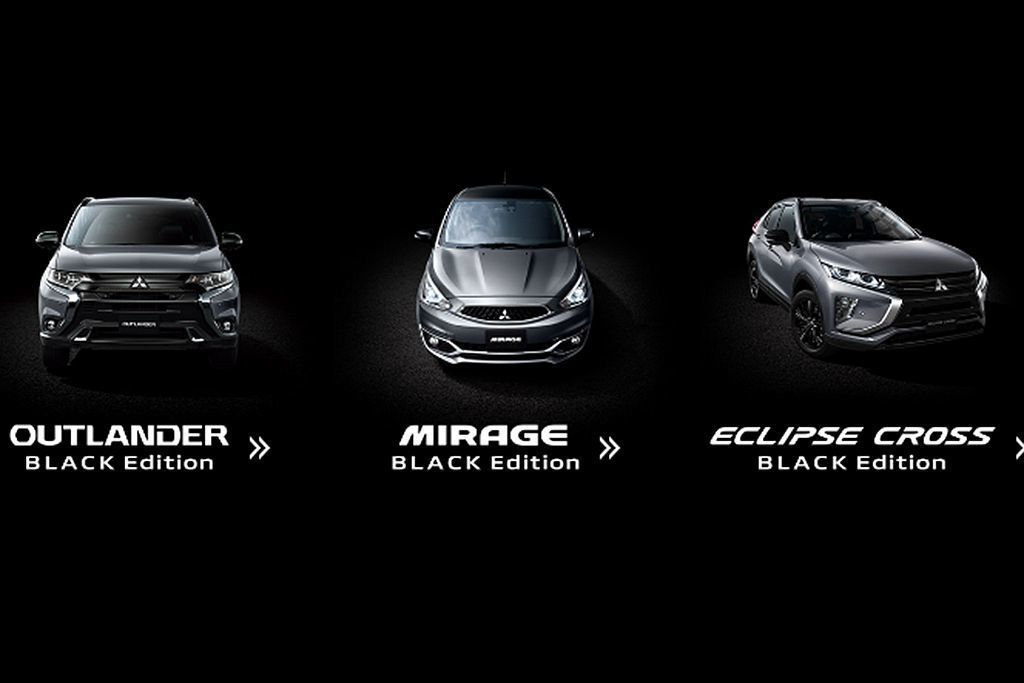 三菱汽車推出的三款「Black Edition」特仕車為Mirage、Outla...