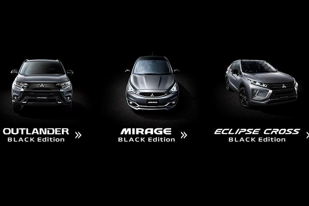 三菱汽車推出的三款「Black Edition」特仕車為Mirage、Outlander以及Eclipse Cross。 圖/Mitsubishi提供