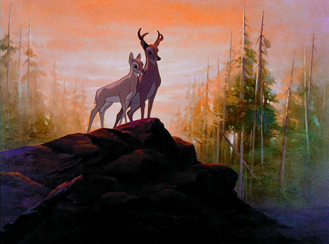 「小鹿斑比」片中有濃厚的環保、動保意識。圖/摘自imdb