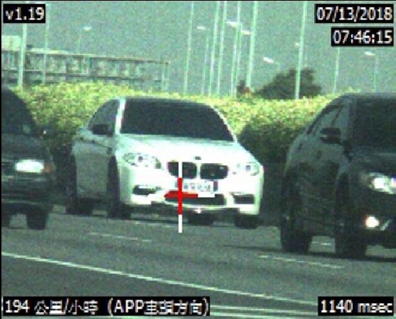 國道警方以雷達測速槍,舉發陳姓醫師飆速194公里。照片/警方提供