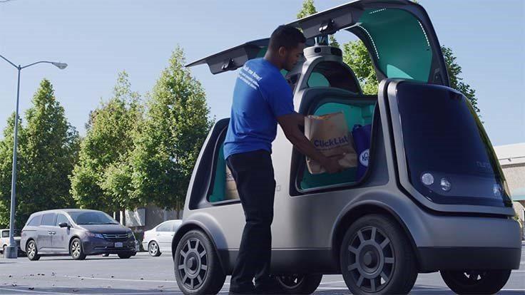 Kroger與矽谷自駕車新創公司Nuro合作自駕車宅配服務。取自Nuro網站