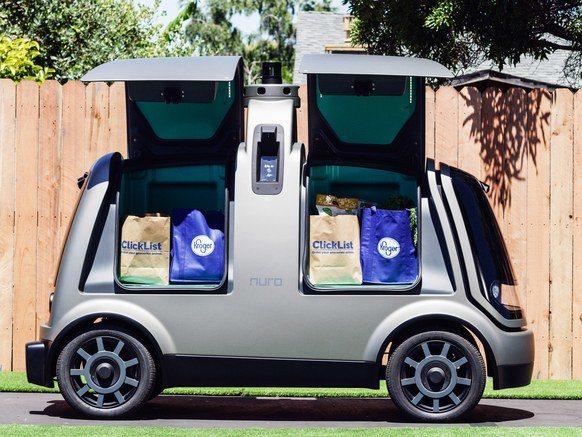用來送貨的自駕車稱為R1,沒有設駕駛方向盤和座位。取自Nuro網站