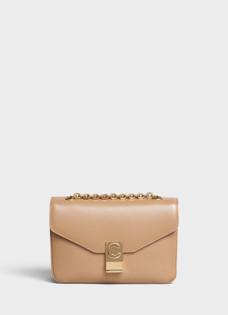 淡駝色光滑小牛皮中型鍊帶C Bag,售價99,000元。圖/CELINE BY ...