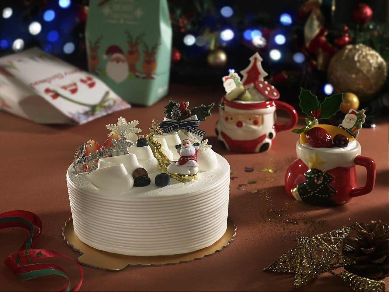 應景又療育的耶誕慕斯瓷杯,是詢問度高的派對應景商品。一之軒/提供