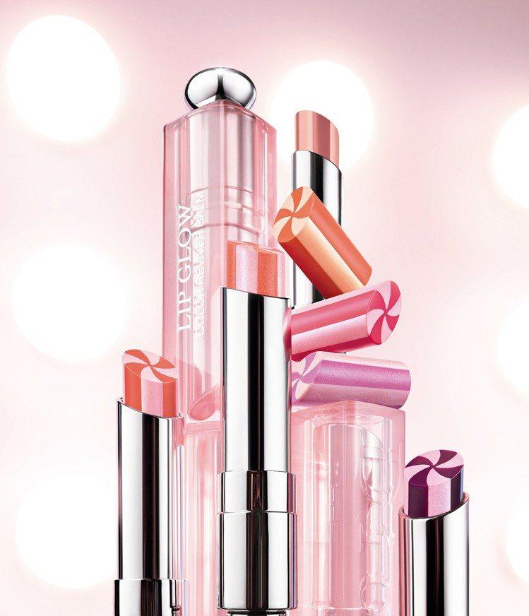 迪奧癮誘粉漾潤唇膏,每款結合兩色選,推出全新7色,各1,200元。圖/Dior提...