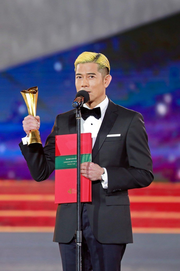 郭富城獲得首屆海南島國際影展的「年度最佳男演員獎」。圖/Hugo Boss提供