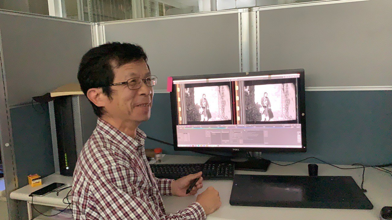 南藝大影片修復師連穆濤。記者吳淑玲/攝影