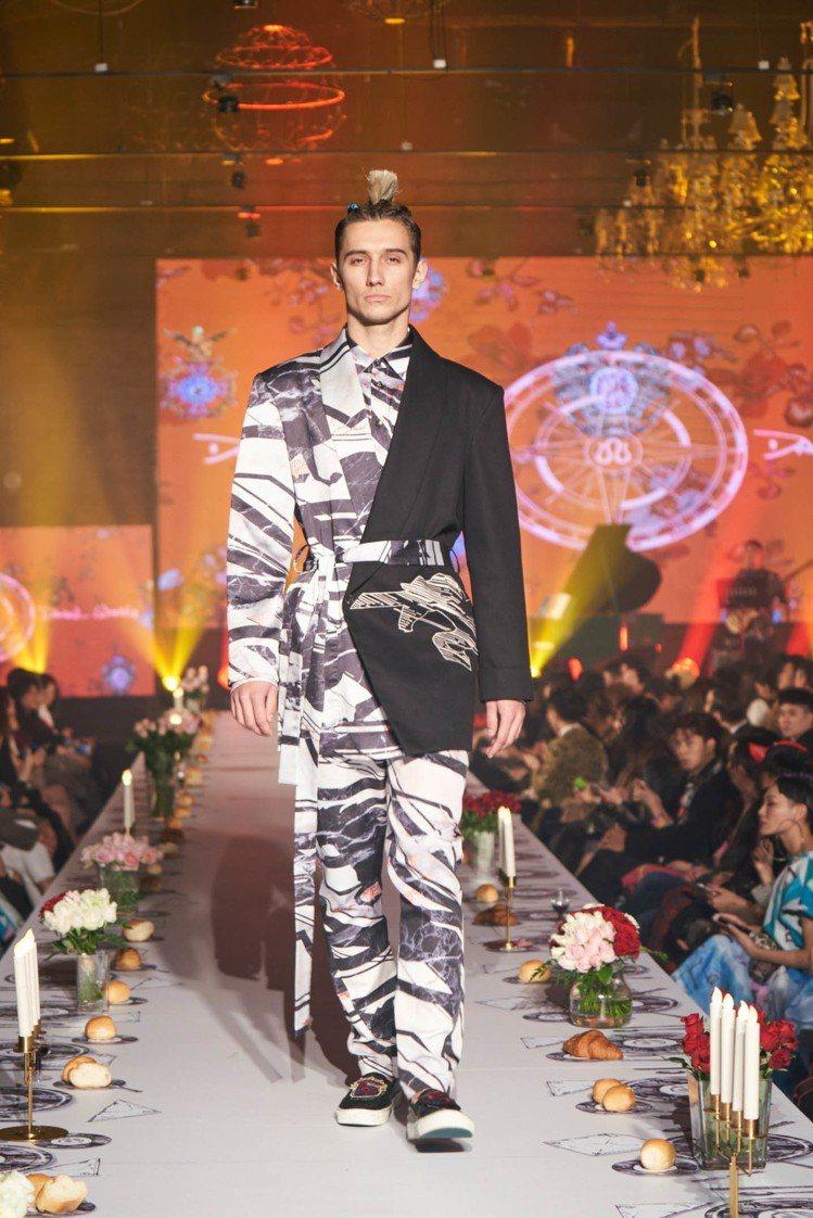 Daniel Wong仍以印花設計為強項,發表2018春夏男、女裝。圖/Dani...