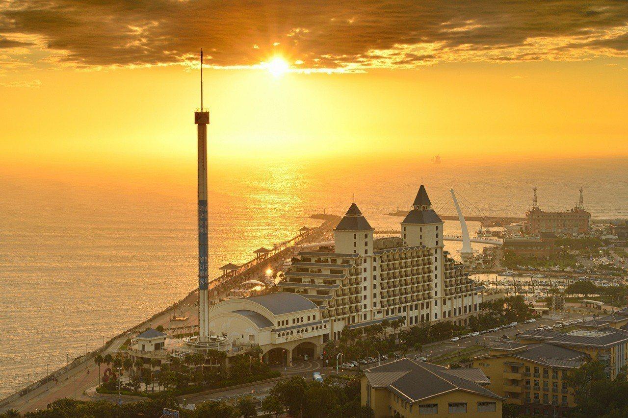全台最美飯店之一的福容大飯店漁人碼頭。圖/福容大飯店提供
