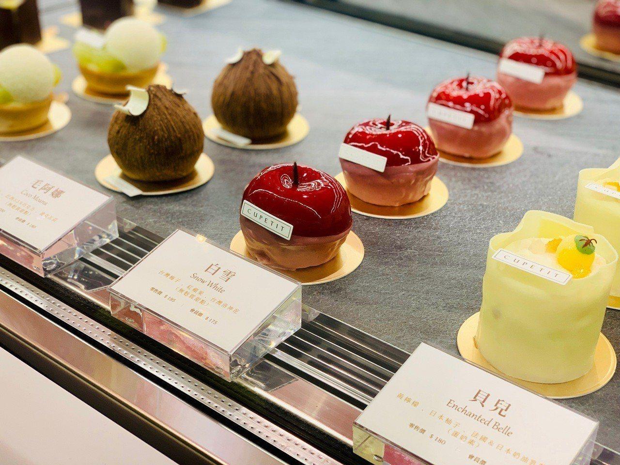 「公主力」夢幻系列甜點。記者張芳瑜/攝影