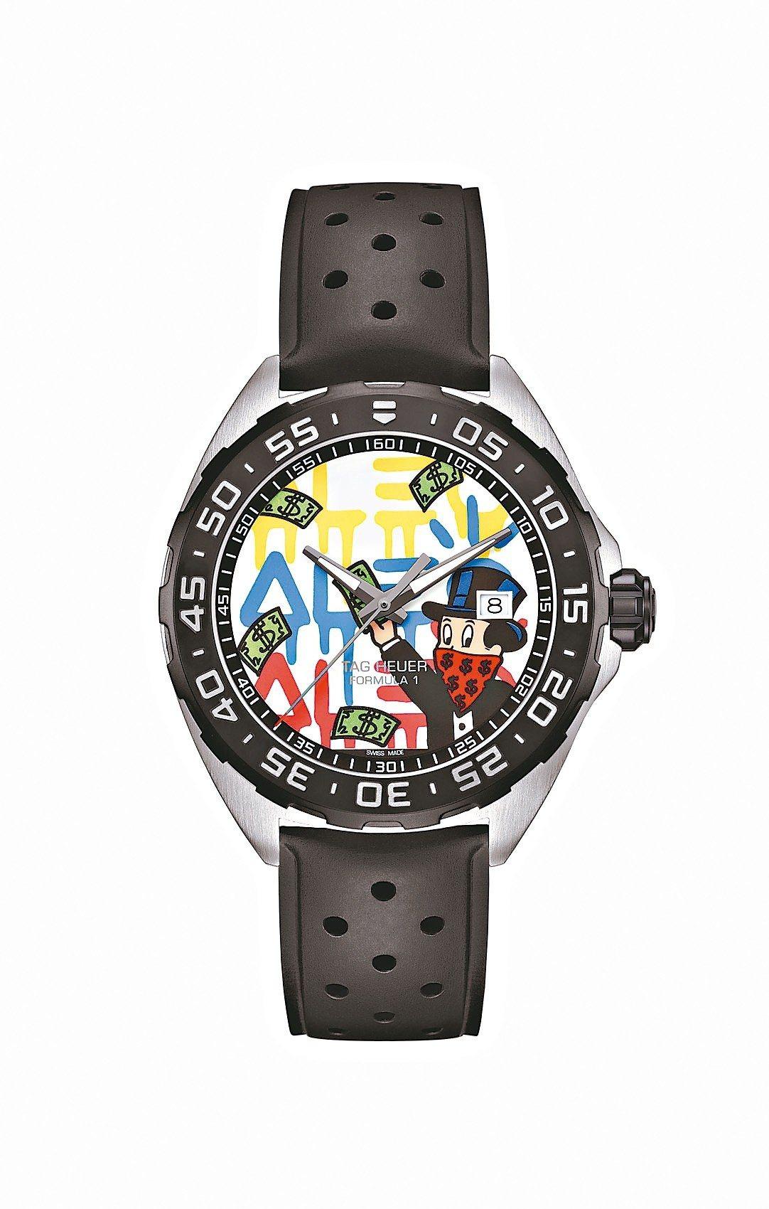 泰格豪雅Formula 1 Alec Monopoly聯名腕表,精鋼表殼、Ale...