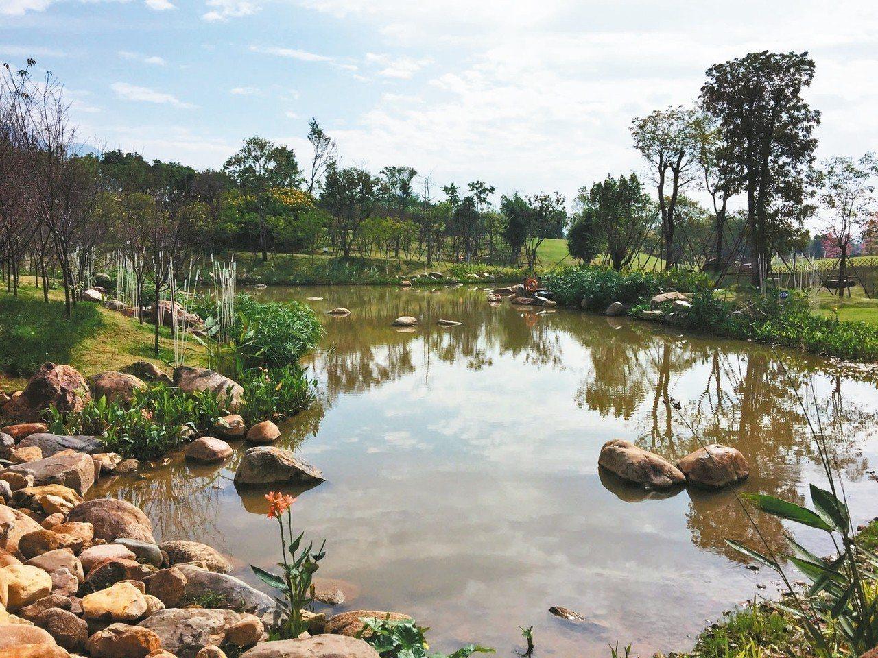 鶴林公園小溪。 記者汪莉絹/攝影