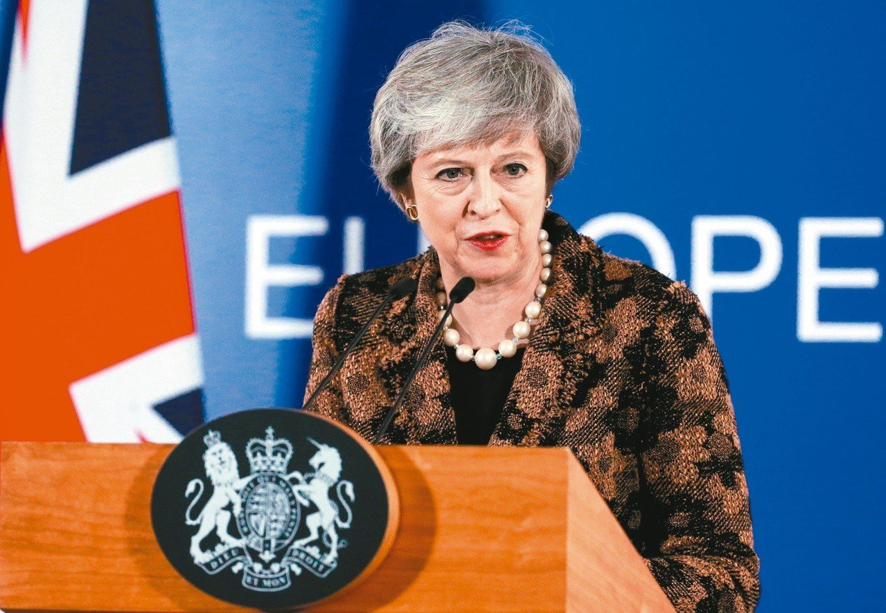 英國首相梅伊。 歐新社資料照