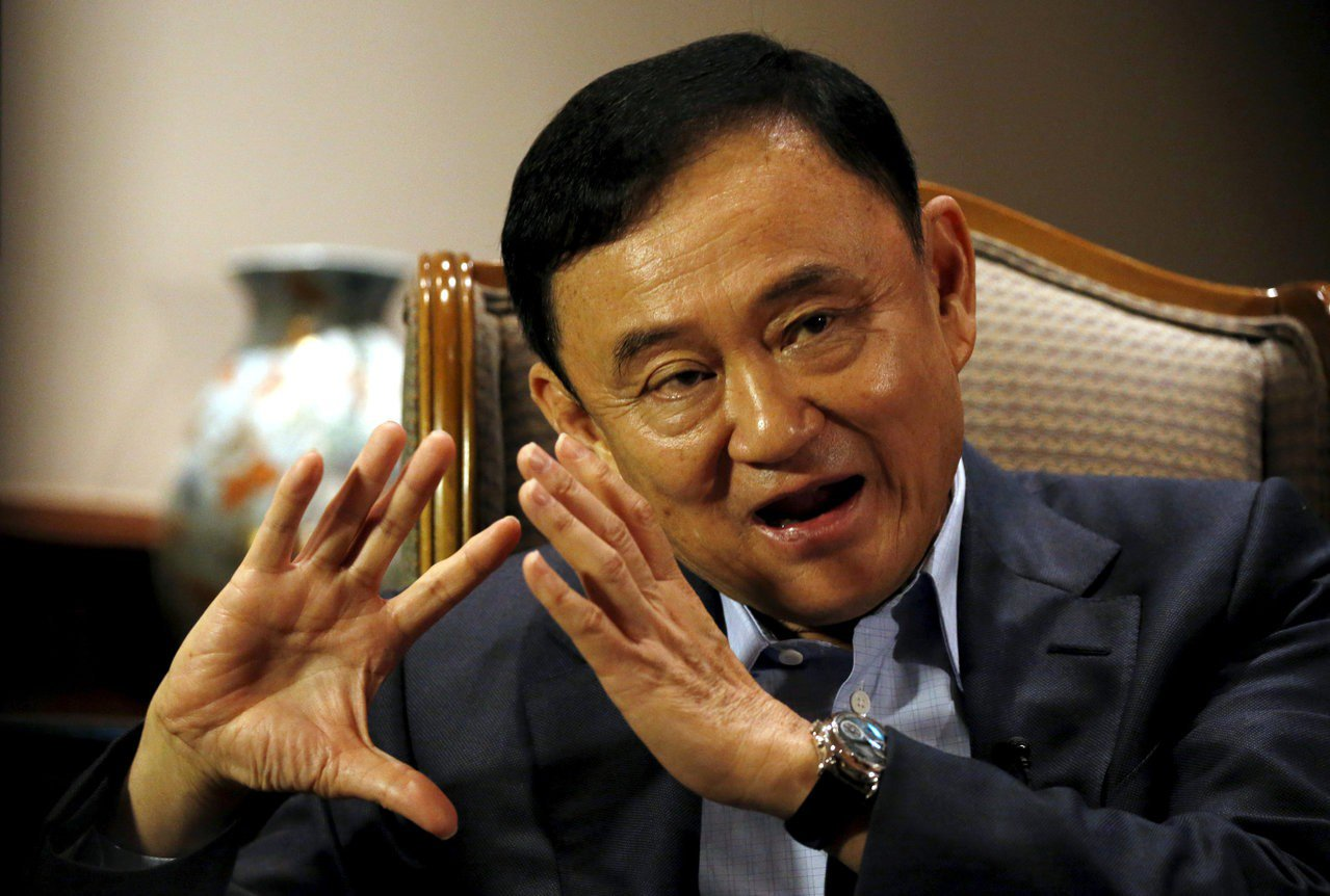 泰國前總理戴克辛(Thaksin Shinawatra)。 路透社