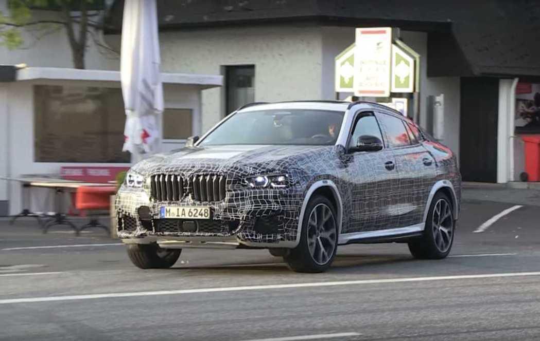 BMW X6 偽裝車。 摘自Motor1
