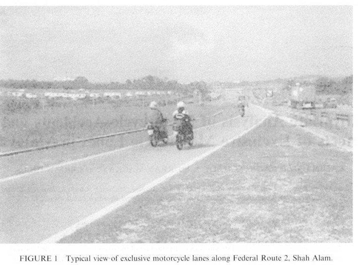 馬來西亞於Federal Route 2的機車專用道。 圖/取自A Study ...