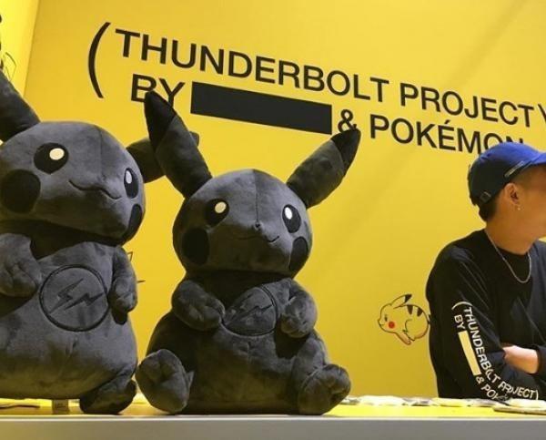黑暗皮卡丘是藤源浩與『POKÉMON』聯手推出「THUNDERBOLT PROJECT」的商品 圖片來源/ Instagram