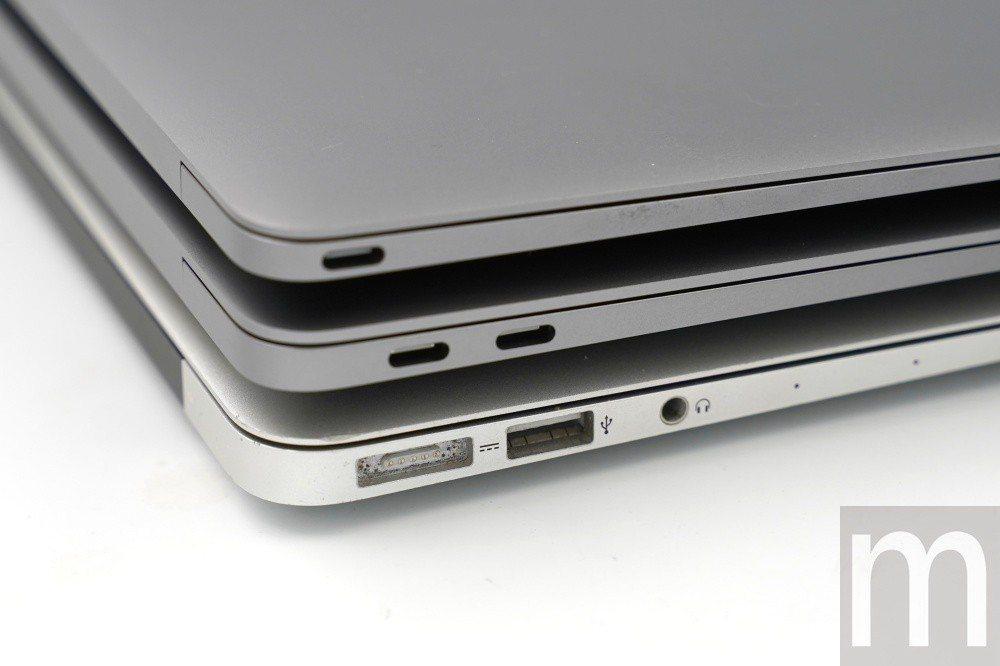 主要連接埠規格差別,舊款MacBook Air使用舊式MagSafe充電器與標準...